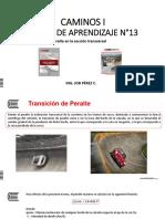 Diapositiva N°13 Peralte en la sección transversal y calculo del sobreancho