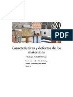 Características y Defectos de Los Materiales