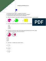 Avaliação de Matemática 6º Ano