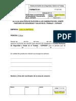 FT-SST-008 Formato de Apertura Elección Del COPASST
