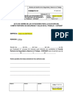 FT-SST-010 Formato de Cierre de Las Votaciones Elección Del COPASST