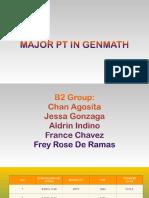 Major Pt in Genmath 2