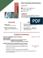 62 Curriculum Vitae Primer Empleo