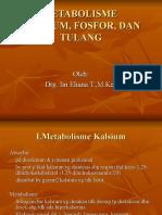 Metabolisme Kalsium, Fosfor, Dan Tulang