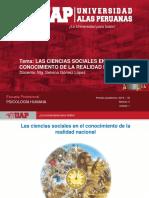 Semana 2 - Las Ciencias Sociales en El Conocimiento de La Realidad Nacional