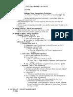 Civil Procedure II Checklist - Raven-Hansen - Fall 2002 (1)