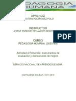 Instrumentos de Evaluación y Mecanismos de Mejora