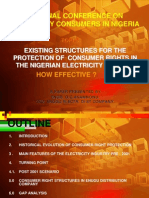 Existing Structures for the Protection of Consumer Rights in the Nigerian Electricity Market