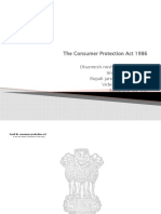 The Consumer Protection Act 1986