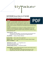 OATHTAKER House Rules for 4th Ed
