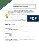 Guía de Aprendizaje de Lenguaje 7