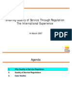 Ensuring Quality of Service Through Regulation - The International Experience