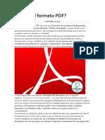 Qué Es El Formato PDF