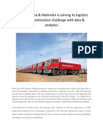 How Mahindra & Mahindra is solving its logistics network optimization challenge with data & analytics1.pdf