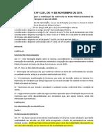 Resolução SEE 4231_2019 - Matrícula Na Rede Estadual