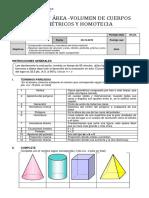 Evaluación Volumen, Area, Homotecia