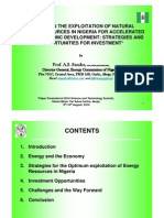 The Exploitation of Natural Energy Resources in Nigeria for Accelerated Socio-economic Development- Strategies and Opportunities for Investment