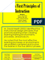 Merrill's First Principles of Instruction