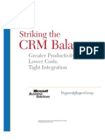 Striking the Crm Balance