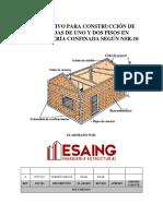 Instructivo Para Construcción de Viviendas de Uno y Dos Pisos - Nsr-10