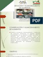 Conservación y Almacenamiento de Alimentos