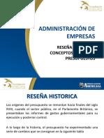 1. Reseña Histórica, Definición de Presupuesto y Objetivos de Los Presupuestos