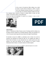 paráfrasis de biografias de escritores mexicanos