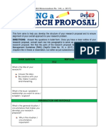deped wresearch proposals