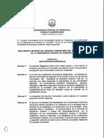 Reglamento del Servicio Comunitario UCV