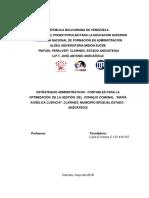 """ESTRATEGIAS ADMINISTRATIVAS - CONTABLES PARA LA OPTIMIZACIÓN  DE LA GESTIÓN  DEL  CONSEJO COMUNAL  """"MARÍA ANGELICA LUSINCHI"""". CLARINES, MUNICIPIO BRUZUAL ESTADO - ANZOÁTEGUI"""