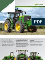 Tractor John Deere Serie 6D Folleto