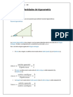 Identidades y Fórmulas de Trigonometría