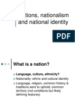 Nations, Nationalism and National Identity