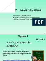 7-1B Systems of Linear Equations Graphing