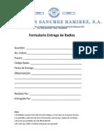Formulario Entrega Radios