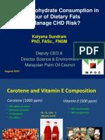 Tiltin Carbohydrate Consumption Favor Dietary Fats Manage CHD Risk P4 Dr Kalyana Sundram