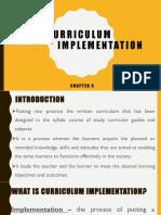 Report - Curriculum Implementation