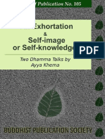 An Exhortation and Self-Image or Self-Knowledge-Ayya Khema