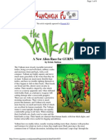 The Yalkani, A New Alien Race (for Gurps 3e)