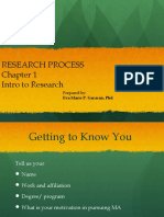 Chapter 1 - Intro to Research