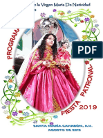 Programa General Fiesta Patronal 2019