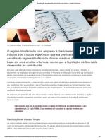 Restituição de Tributos Fiscais Em Clínicas Médicas - Badaró Almeida
