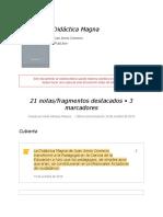 Notas- Resumen didáctica magna