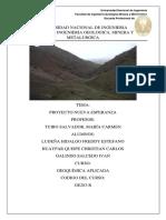 Prospeccion geoquimica Esperanza Alta