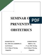 262348500 Seminar on Preventive Obstetrics