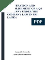 Registration and Establishment of a Qs Company Under the Company Law in Sri Lanka