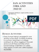 Human Activities in Work and Beyond It