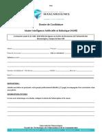 Dossier de Candidature Master IAR