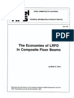 1989 - 05 THE ECONOMIES OF LRFD IN COMPOSITE FLOOR BEAMS