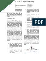System for ECG Signal Denoising